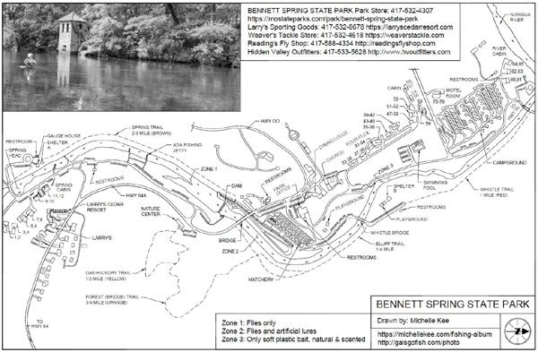 Bennett Springs State Park Map